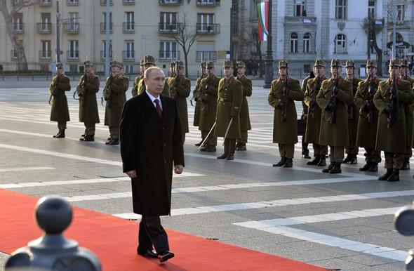 Putyin a Hősök terén