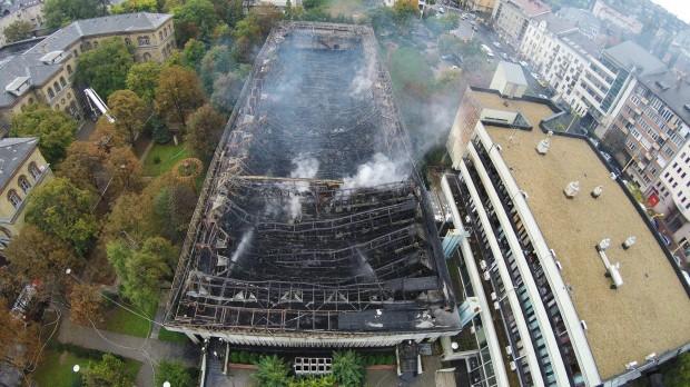 Egyetlen fotó jól mutatja, milyen pusztítást végzett a tűz a Testnevelési Egyetemen