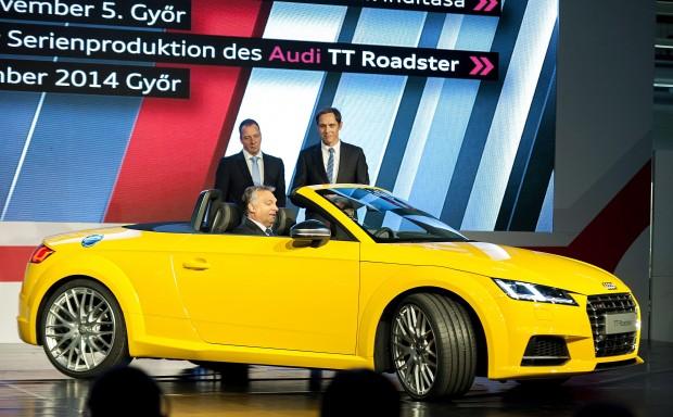 Orbán: Magyarország elképzelhetetlen az Audi nélkül