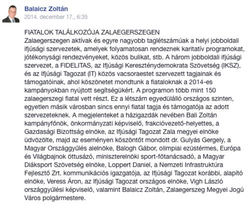 Hónapok után tüntették el Veress Áront a Facebookról