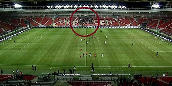 Nem volt hely leülni az üres stadionban